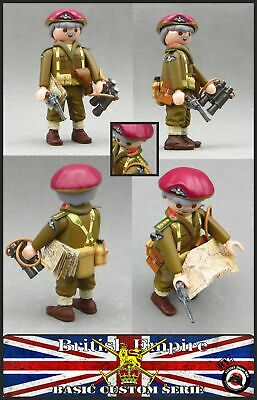 Playmobil Custom WW2 Colonel British Paratrooper Soldier • 12.36£