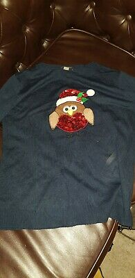 Primark Chrismas Owl Jumper Size Medium  • 2.90£
