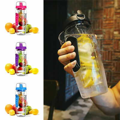 AU21.99 • Buy 1000ML Laptone Infusion 3-in-1 Fruit Infusing 1 Litre Motivational Water Bottle