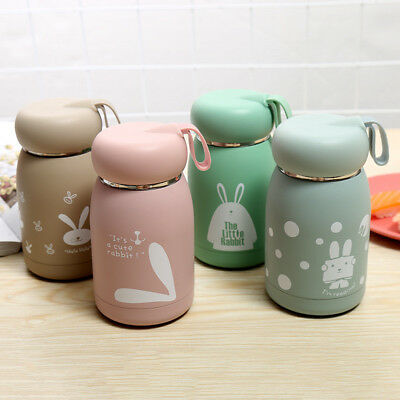 £6.79 • Buy Mini Belly Mug Small Lovely Rabbit Kid Stainless Steel Vacuum Flasks Thermos Cup