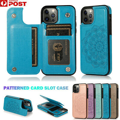AU13.99 • Buy For IPhone 12 11 Pro Max Mini 8/7/SE Plus XR X/XS Case Leather Wallet Card Cover