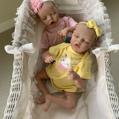 $ CDN83.51 • Buy Lifelike Reborn Baby Dolls Premie Girls Birthday Gifts Vinyl Twins Dolls 17in