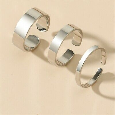 £1.07 • Buy Ring Adjustable Knuckle Thin Band Ring Silver Gold Men/Women Toe Finger Thumb