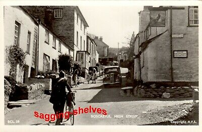 Cornwall - BOSCASTLE - High Street - RP - C.1945 • 9.50£
