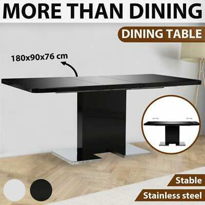 AU396.99 • Buy VidaXL Extendable Dining Table Kitchen Furniture MDF High Gloss Black/White
