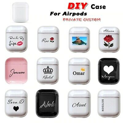 $ CDN15.85 • Buy Personalized Case For AirPods Custom Name Logo Image Protect Cover Hard Plastic