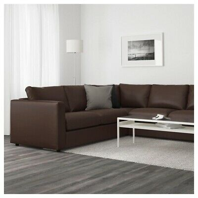 Brown Leather Corner Sofa Used • 600£