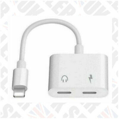 £3.47 • Buy White Headphone Audio Charger Adapter Splitter For IPhone 7 8 X XR XS 11 Max Pro