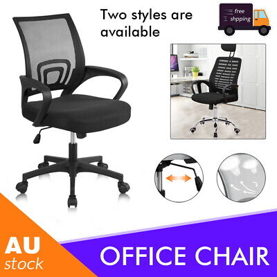 AU56.59 • Buy Ergonomic Office Chair Gaming Computer Mesh Chairs Executive Mid Back Black  AU
