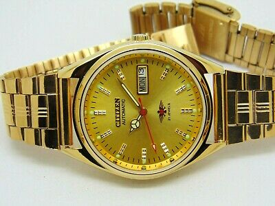 $ CDN43.66 • Buy Citizen Automatic Men's Gold Plated Day Date Vintage Japan Made Watch Run Order