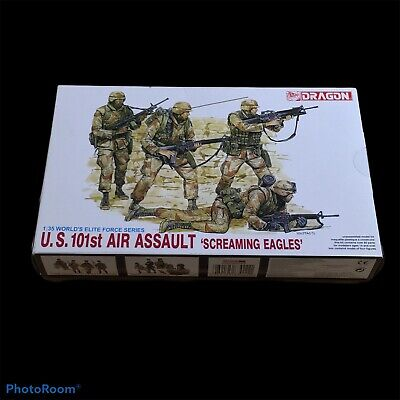 US 101st AIR ASSAULT 'SCREAMING EAGLES' DRAGON 1/35 FIGURE MODEL KIT 3011 AGE 14 • 10£
