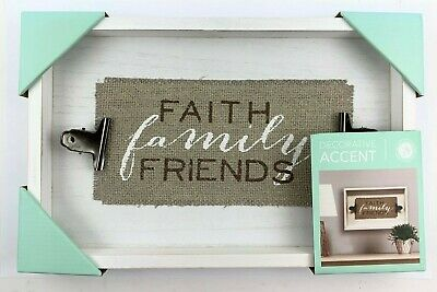 Faith Family Friends  Wall Decor By New View Gifts & Accessories - US STOCK • 14.23£