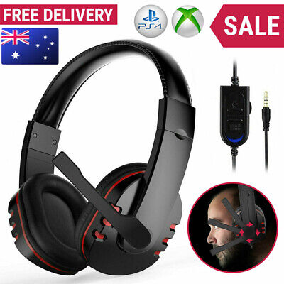 AU18.99 • Buy Durable Stereo Gaming Headset Headphone Wired With Mic For PC Xbox One PS4 AU