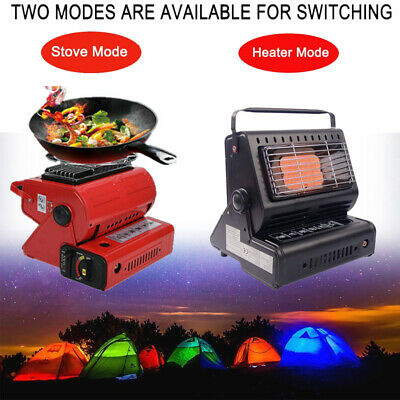 AU78.68 • Buy Portable 2 In 1 Outdoor Camping Gas Heater & Cooker Stove For Butane Gas Burner