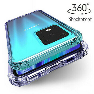$ CDN3.76 • Buy For Samsung Note 20 Ultra S20 FE 5G S21 Clear Shockproof Silicone TPU Case Cover