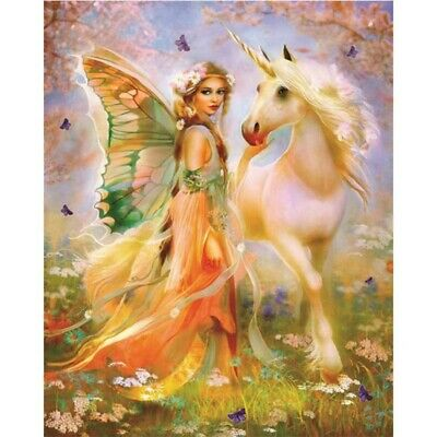AU16.99 • Buy 5D Butterfly Fairy Diamond Painting Kits Full Drill Embroidery Decors DIY Mural