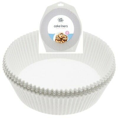 £4.29 • Buy 20 Pack Cake Liners 22cm Non Stick Grease Proof Greaseproof Round Paper Cake Tin