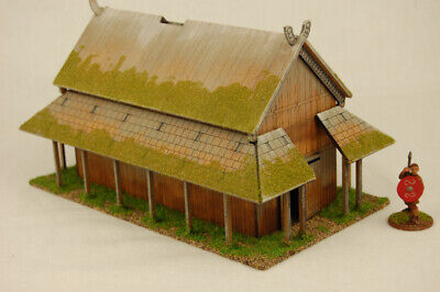 £24.99 • Buy Dark Age VIKING TIMBER PLANKED LONG HOUSE 2  MDF 28mm Scale Building J019
