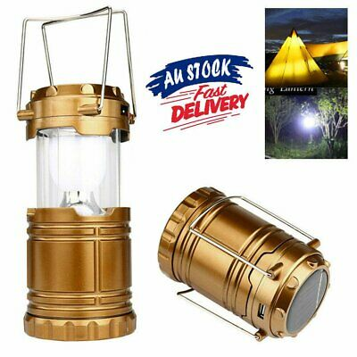 AU19.98 • Buy 6 LED Solar USB Rechargeable Charging Outdoor Camping Tent Lantern Light Lamp