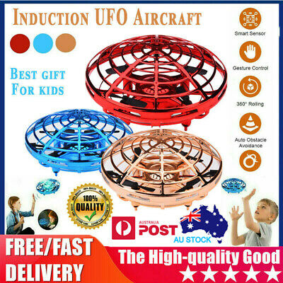 AU18.99 • Buy Mini Drone Quadcopter Induction UFO Flying Toy Hand Controlled For Kids Gifts AU
