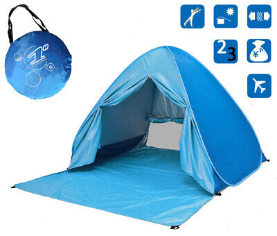 AU38.95 • Buy Instant POPUP Tent Beach Tents Camping Tents Sun Shade Shelter-MultiColor2People
