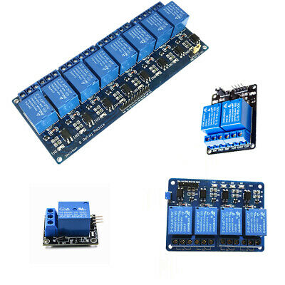 AU8.79 • Buy 5V 1/2/4/8 Channel Relay Board Module For Arduino Raspberry ARM AVR DSP PIC PLC