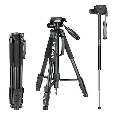 AU59.99 • Buy Neewer 2-in-1 Camera Tripod Monopod 70 /177 Cm With 3-Way Swivel Pan Head