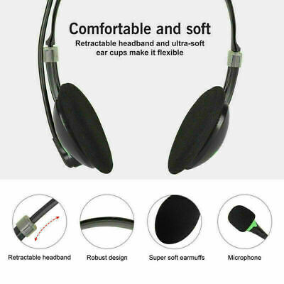USB Headphones With Microphone Noise Cancelling Headset For Skype Laptop Game • 11.01£