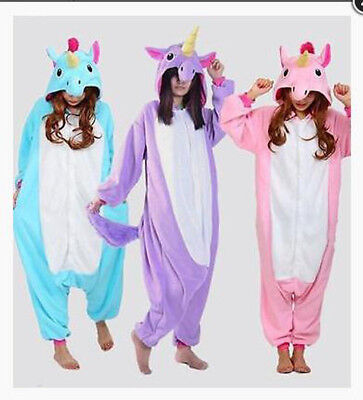 AU12.99 • Buy Adult Unisex Pajamas Animal Cosplay Costume Unicorn S- XL Sleepwear Dress/