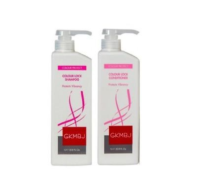 AU59.49 • Buy GKMBJ Colour Lock Shampoo & Conditioner 1000ml 1L NEW PACKAGING