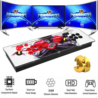 AU218.49 • Buy Pandora's Box 12 3188-in-1 Retro Games Console 2D HD Video Gaming Host 4 Players