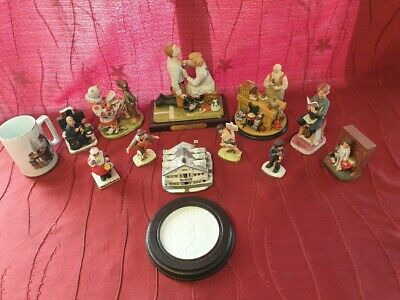 $ CDN106.70 • Buy Huge Lot Of Vintage Norman Rockwell Statues & Figurines  With Boxes. Club...