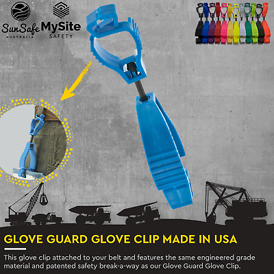 AU185 • Buy Glove Guard Glove Clips The Original Belt Loop Clip Made In The USA Safety Break