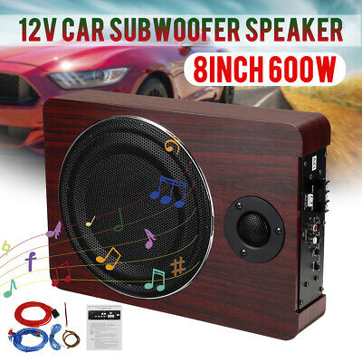 8'' 600W 12V Car Underseat Amplifier Subwoofer Audio Bass HiFi Modified Speaker • 80.39£