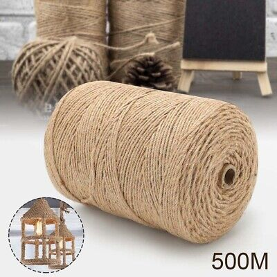 £7.49 • Buy 500m Metre 4ply Natural Brown Shabby Style Rustic Twine String Shank Craft Jute