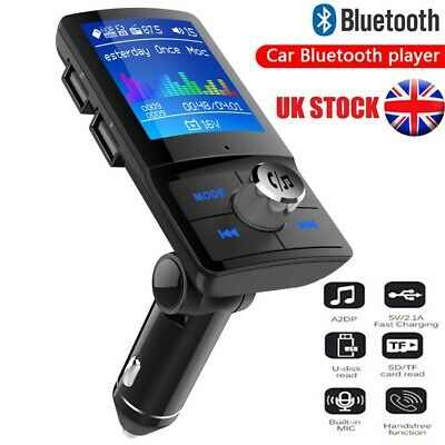 Wireless Bluetooth Car Kit FM Transmitter MP3 Player Dual USB LCD Handsfree UK • 13.99£