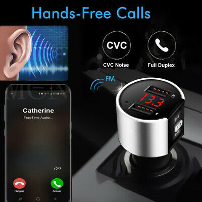 Handsfree Wireless Bluetooth Car Kit FM Transmitter Radio MP3 Player USB Charger • 6.79£