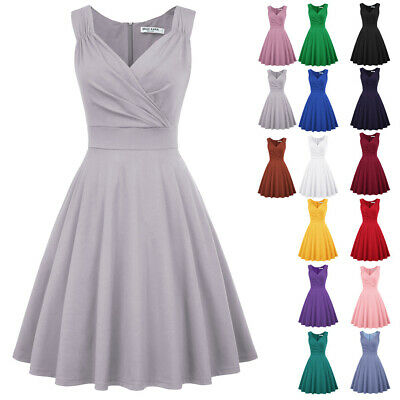 1950s 60s Womens Swing Pinup Housewife EVENING Pinup Party 40s Dresses Plus Size • 18.81£