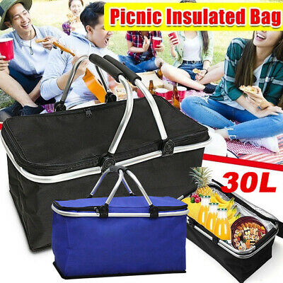 30L Extra Large Cooling Cooler Cool Box Picnic Camping Food Ice Drink Lunch Bag • 8.26£