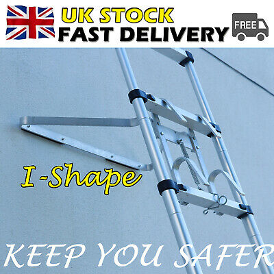 £27.30 • Buy Aluminium Universal Ladder Stand Off Ladder Stay I-Shape Safe Ladder Accessory