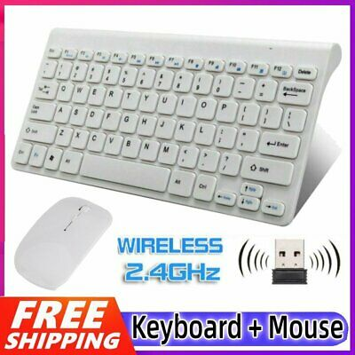 2.4GHz Ultra Slim Thin Wireless Keyboard Mouse Combo Set For PC Laptop Computer • 12.90£