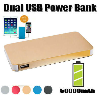 AU19.99 • Buy 50000mAh 2A Power Bank Dual USB Battery Charger IPhone XS XR Huawei Mate 40 Pro