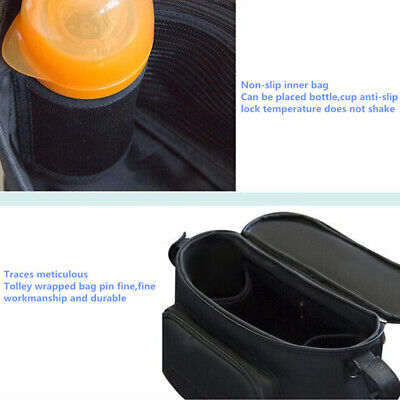 AU23.56 • Buy Large Capacity Baby Stroller Bag Mama Storage Travel Accessories Soild Organizer