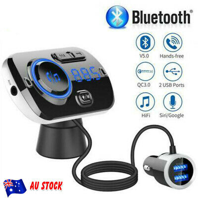 AU26.89 • Buy Handsfree Wireless Bluetooth Car Kit FM Transmitter USB Charge Radio MP3 Player~