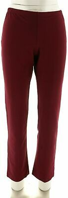 $ CDN16.53 • Buy Women With Control Pull-on Slim Leg Pants Burgundy S NEW A213523