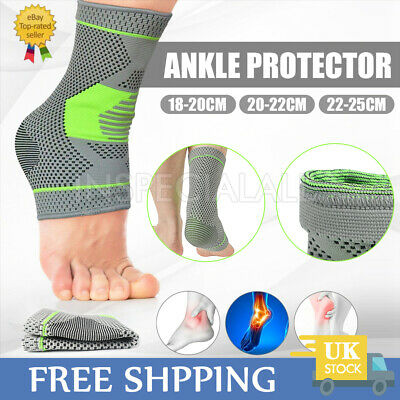 Ankle Support Brace Compression Strap Achilles Tendon Foot Sprains Injury Sports • 4.39£