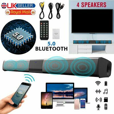 £22.86 • Buy Bluetooth Sound Bar Wired Wireless Bass Subwoofer Home Theater TV Speaker Remote