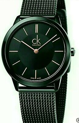 £55 • Buy Calvin Klein Ladies Minimal Watch With Black Dial.Swiss Watch 100% Genuine