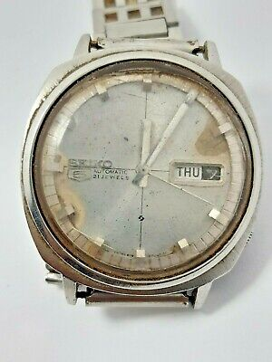 $ CDN26.62 • Buy Vtg Seiko 5 Automatic 21 Jewels Day Date Wrist Watch Japan Made Parts Or Repair