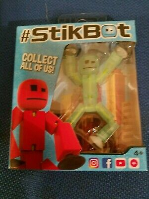 New Original Boxed Stikbot Pets Animation Stickbots Figure ~ CLEAR GREEN • 9.99£